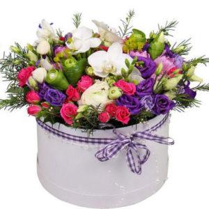 замовити Коробка квітів «Пурпурова долина»