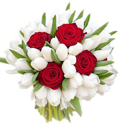 """замовити Букет з білими тюльпанами """"Танго"""""""