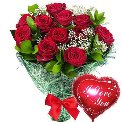 """замовити 11 червоних троянд """"Освідчення"""""""