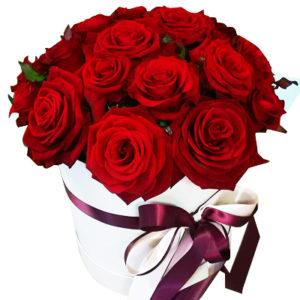 замовити 25 червоних троянд в коробці