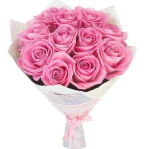 замовити 11 рожевих троянд