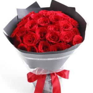 замовити Європейський букет з 25 троянд
