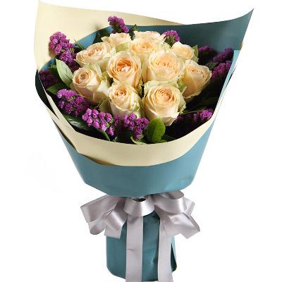 """замовити 11 білих троянд """"Мила"""""""