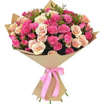 замовити 15 кущових троянд