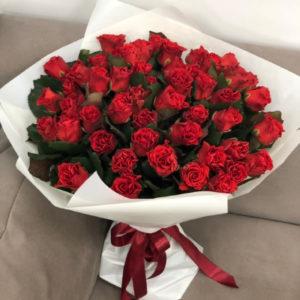 """замовити 51 червона троянда """"Ніжність"""""""